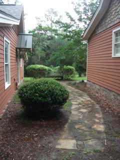 For those with walking issues, the cottage is not very accessible.  The entry walkway is flagstone.