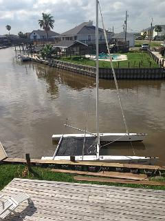 View of the rear dock from the north deck