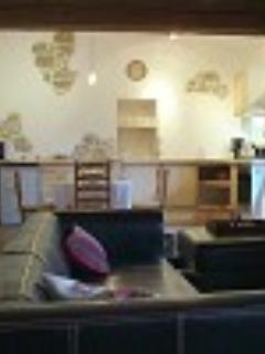 Upper Gite 1 Living room and kitchen