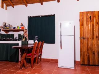 Kitchenette with full size fridge