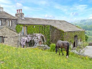 THE STABLE COTTAGE, 17th century barn conversion, off road parking, walks from door, stabling available, near Oakworth and Haworth, Ref. 29670