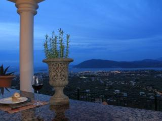 Lemoni 65m² new Stone Villa, two terraces, seaview, Lefkada Town