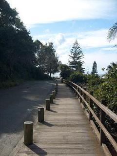 Boardwalk down to Shelly Beach