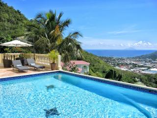 VILLA VISTA... 5 BR with Breathtaking views of Simpson Bay, Saba Island, the French capital of Marigot, Saint-Martin