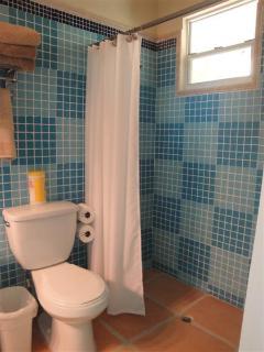 Bathroom Shower at Hacienda Moyano