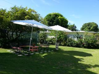 'Calypso' outdoor seating area. Wifi accessible