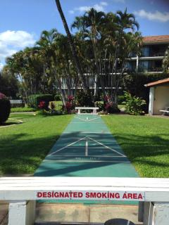 Only designated smoking area at bench
