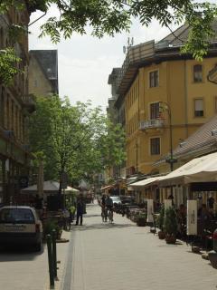 Ráday street-full of bars, restaurants, teracces