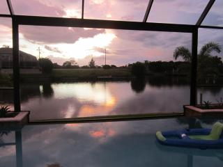 Infinity Pool overlooking 170' wide saltwater canal