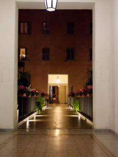 courtyard by night