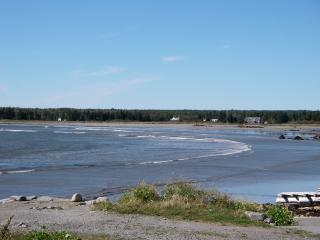 Great sandy beach at low tide