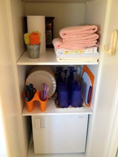 Basic Dishware & Mini-Fridge