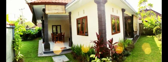 Housefront with garden
