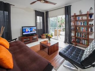 Living room-custom book case