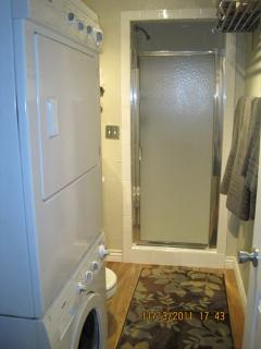 First floor bath - also has washer/dryer for those longer stays/big days!