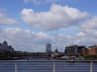 Liffey River 3 min walk
