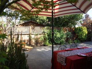 Tranquil and enchanting backyard.