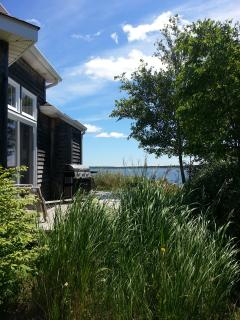 Stay on the harbour in Cocagne in cottage 72 with this view to wake up everyday!