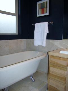 Master bathroom claw foot tub