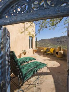 Adobe Rose Casita Private Porch