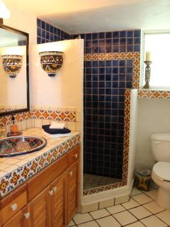Traditional tiled bathroom