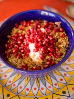 Yummy Dana's 'Signature granola' on fresh yogurt