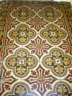 Antique tiled entrance hall