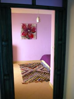 Your in the second floor now, view to the lilac bedroom.