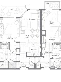 2 Bedroom Lock-Off Villa