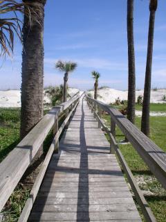 Beach walkway is just 100 feet away