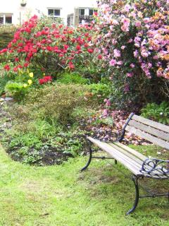 Woodside's cottage garden:peace and quite with a babbling brook nearby