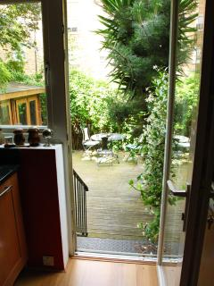 Kitchen leads to your own private garden!