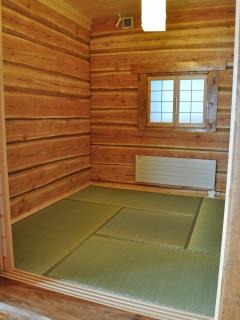Japanese room with fragrant tatami mats