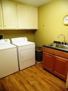 Washer & dryer provided