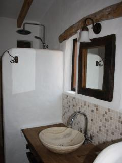 The bathroom with rain shower