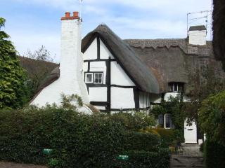 BLUEBELL COTTAGE, character features, off road parking, romantic, thatched cottage in Shottery, Ref 27444