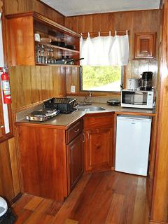 Kitchen in Yellow Tale Snapper Cabana At Latitude Adjustment in Hopkins Belize