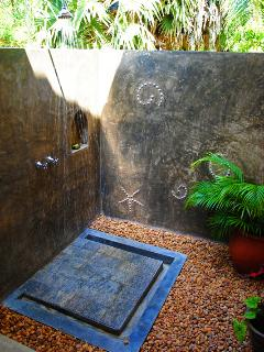 Open air showers - wonderful at night
