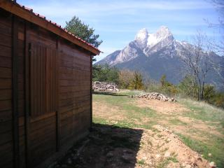 Cal Forca front of Pedraforca, Saldes