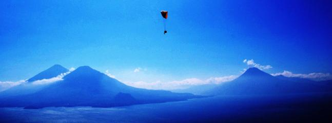 Flyin over Lake Atitlan