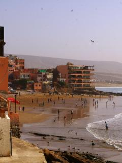 Taghazout village beach