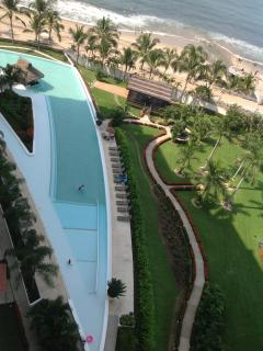 view from deck, pool and ocean