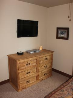 2nd Bedroom - Flat Panel TV and Chest of Drawers