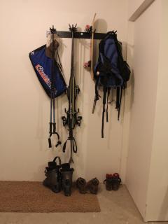 Ski Storage in the garage, next to your warm car.