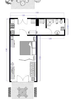 Villa Miramonti - Cardellino apartment floor plan