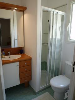 One of the two ensuite showers ,downstairs