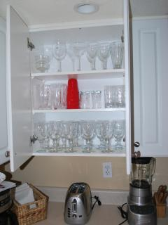 Glassware in the kitchen.