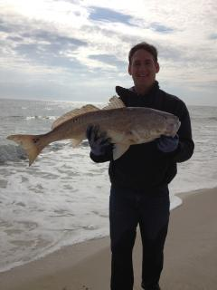 Brian's 25 lb 'redfish' caught January 2, 2014.