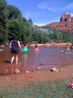 Swimming at red rocks crossing