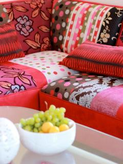colourfull and comfortable sofa